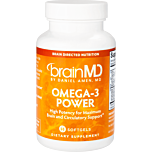 BrainMD's Omega-3 Power supplement helps boost cognitive function, improve mood, & support your heart & body health